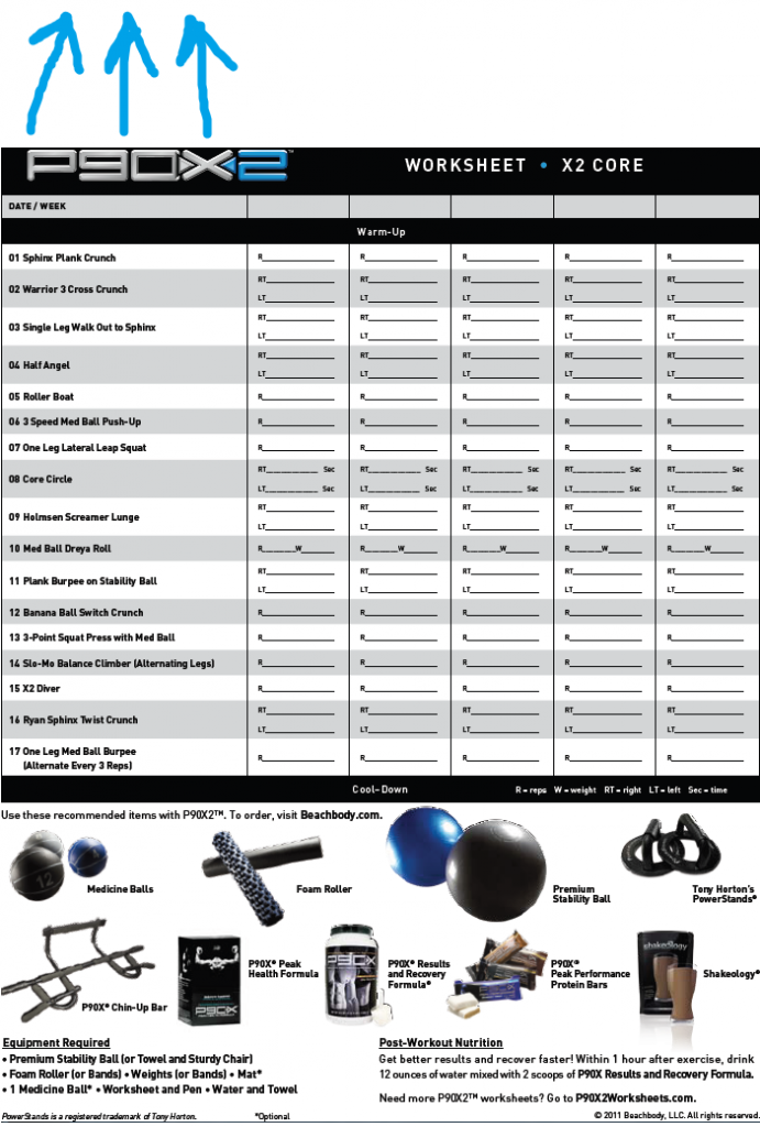 P90x2 Workout Sheets Workout – P90x Worksheets Pdf